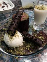 Lemon posset and chocolate fondant pudding