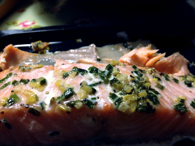 Home cooked salmon