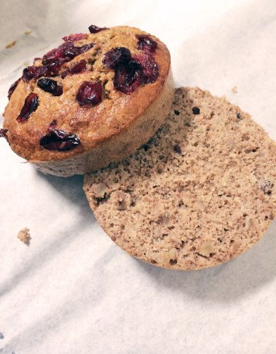 Buckwheat muffins with cranberries