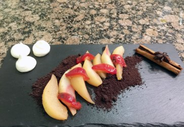 Spiced seasonal fruits.