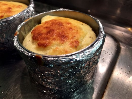 Goat's cheese souffle